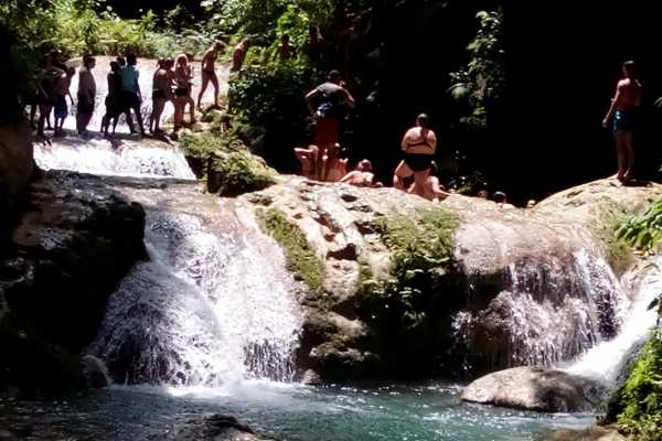 Route 876 Tours Island Gully Falls and Horse Back Riding Combo from Negril