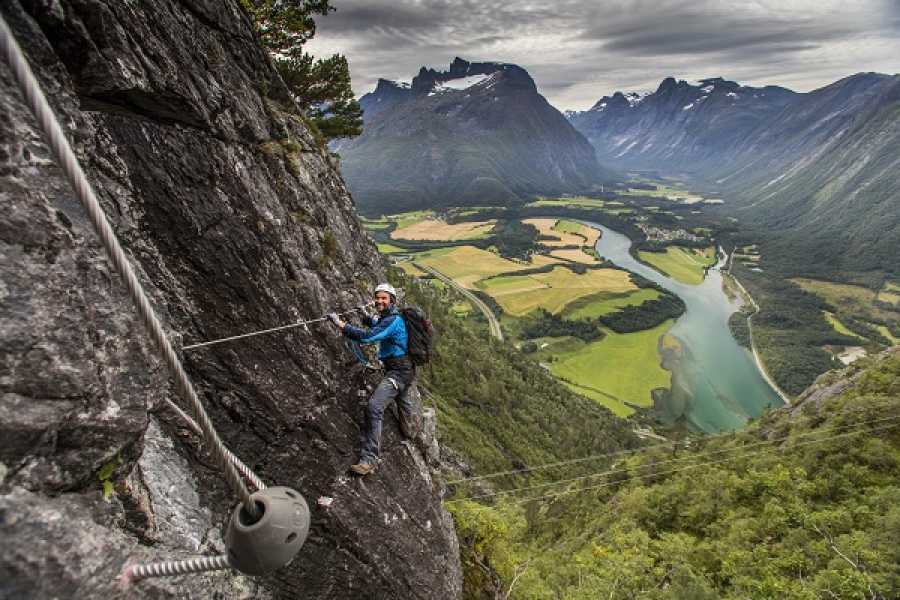 Norsk Tindesenter Guided tour: Romsdalsstigen Via Ferrata -West wall (5-6hrs)