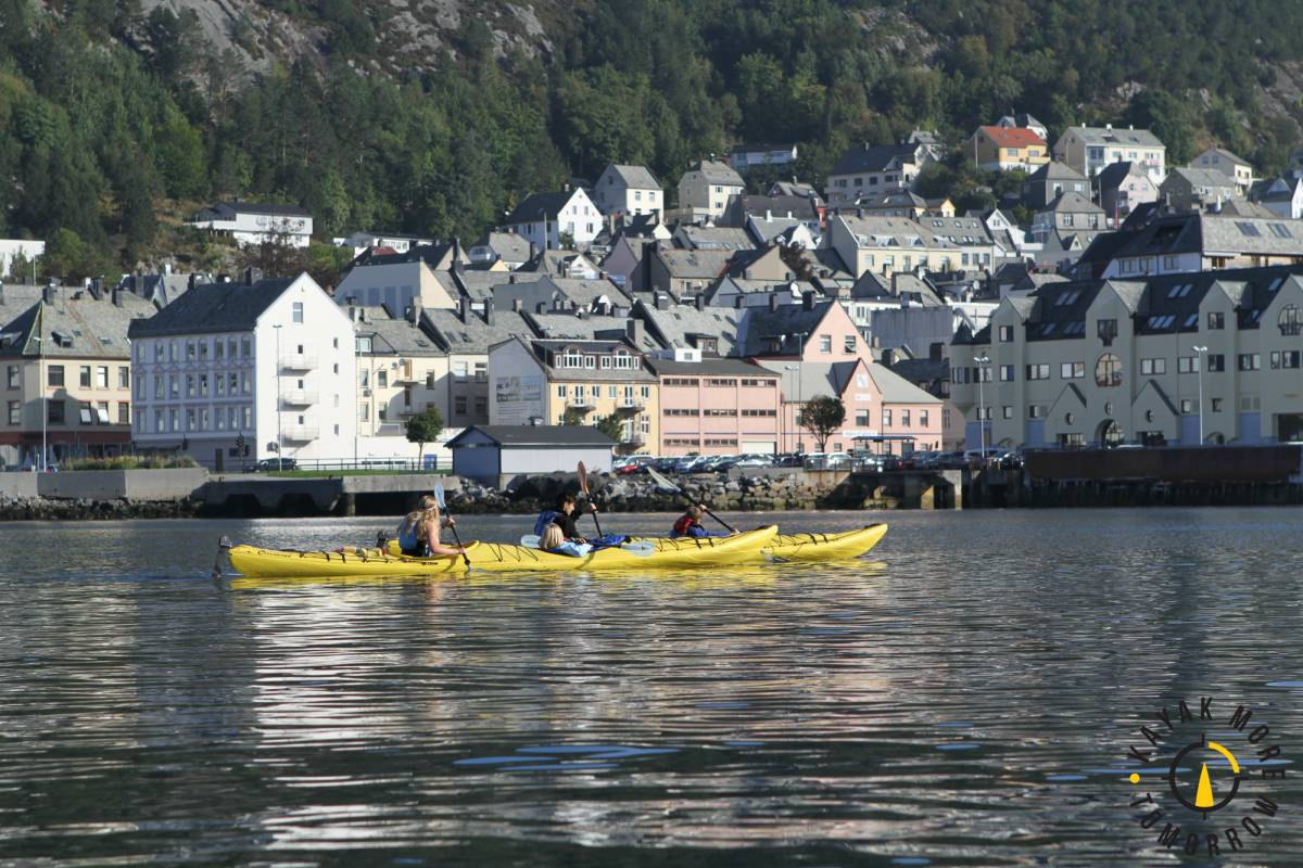Kayak More Tomorrow 3 Hour-Paddle the Art Nouveau City Private Group