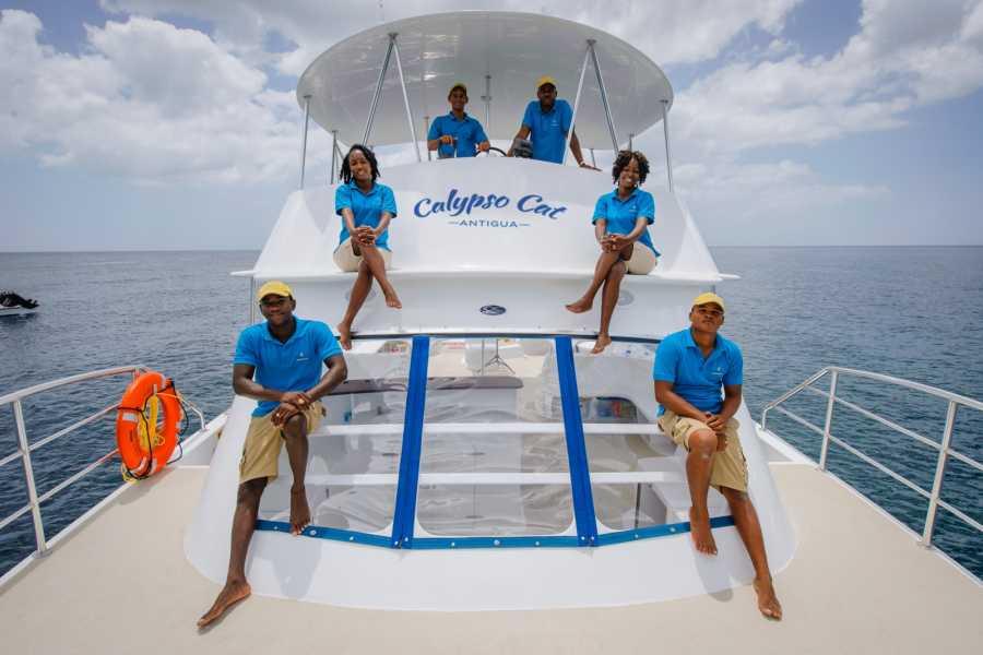 Fun 'N Sun Tours, Antigua, Caribbean CALYPSO CATAMARAN ST. JAMES'S CLUB - GREEN ISLAND*