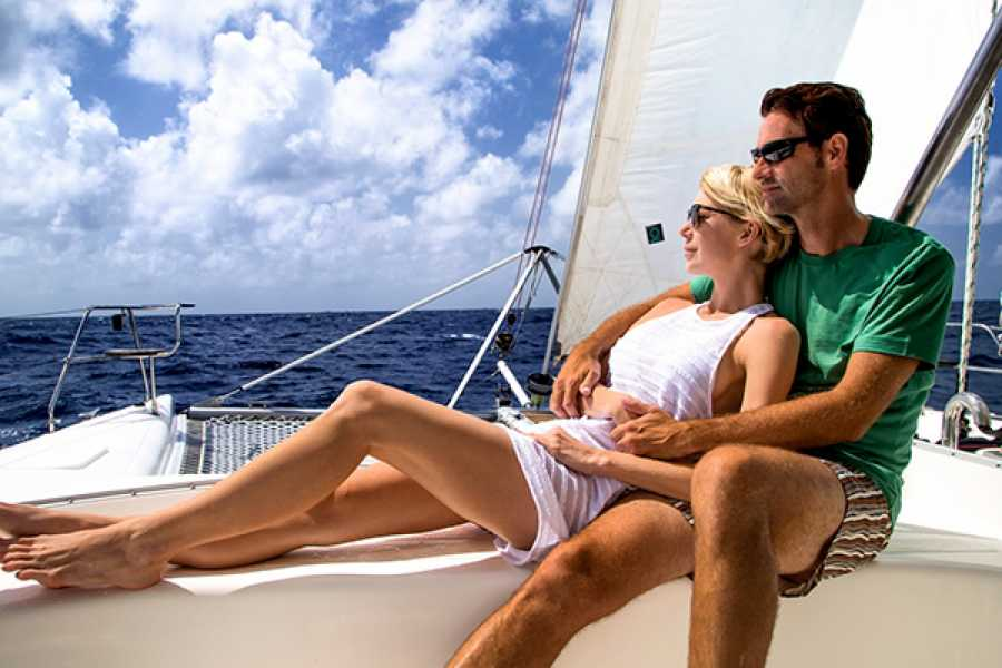 Fun 'N Sun Tours, Antigua, Caribbean CALYPSO CATAMARAN JOLLY BEACH - SUNSET CRUISE