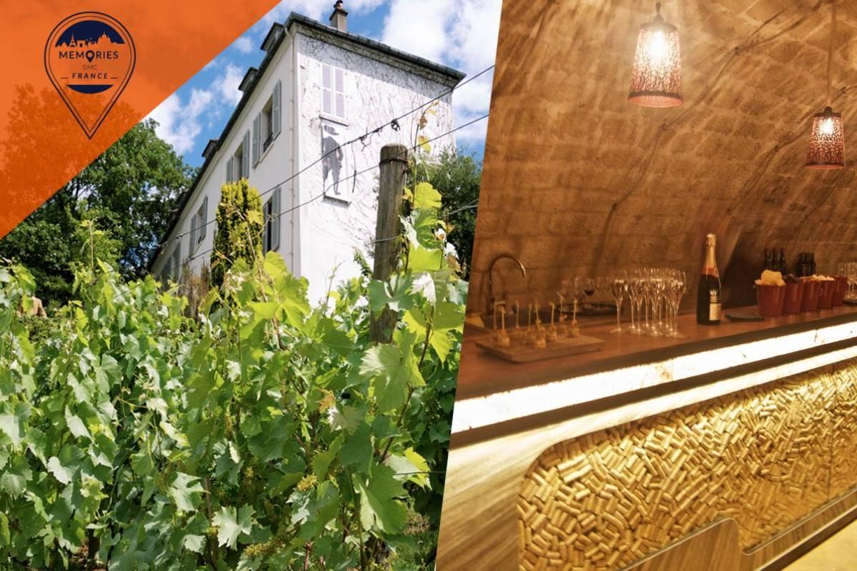 Memories DMC France Wine in Paris - Wine cellars tour with VIP Montmartre Vineyard visit and tastings