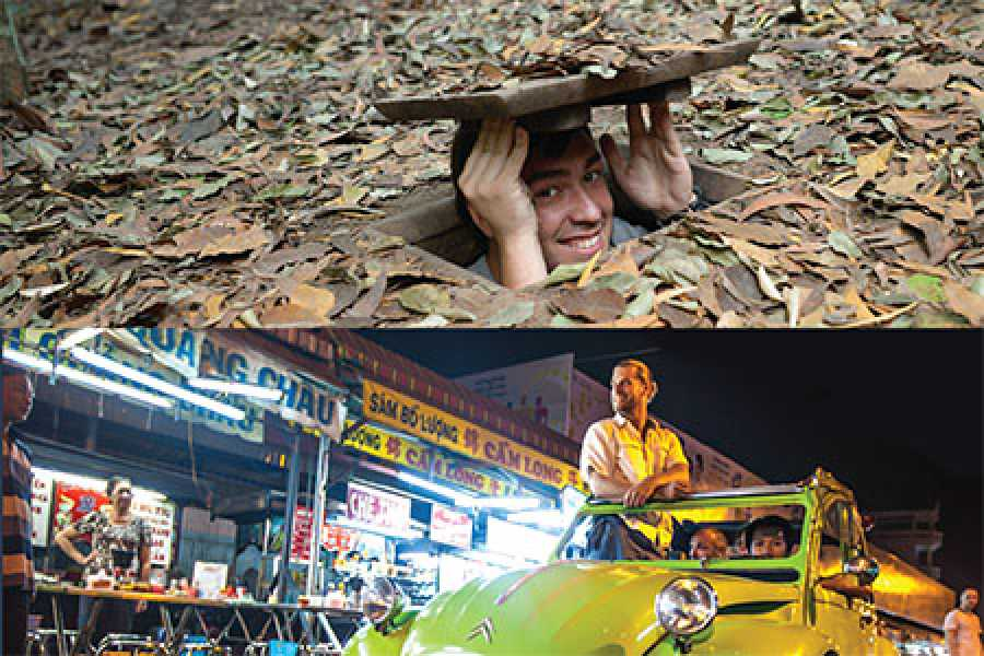 Les Rives Authentic River Experience Cu Chi Tunnels and Sunset 2CV package