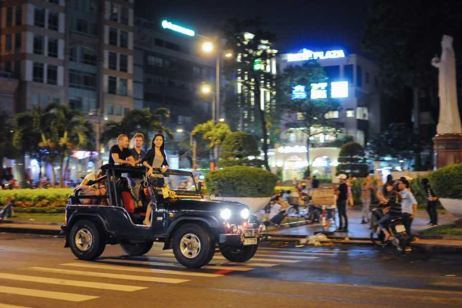 Les Rives Authentic River Experience Ho Chi Minh City Jeep tour and Sunset Cruise