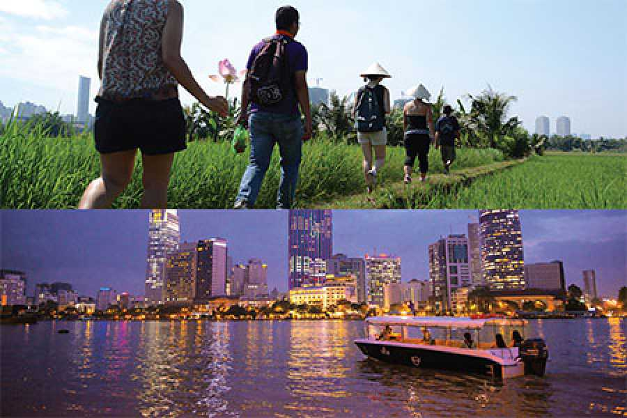 Les Rives Authentic River Experience Cu Chi Tunnels & Secret Mekong tour and Sunset Cruise package