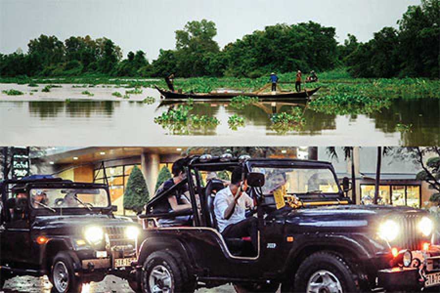 Les Rives Authentic River Experience Mekong Delta tour and Jeep City and Sunset Cruise Package