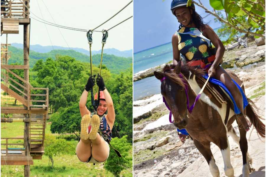 Jamwest Motorsports and Adventure Park Combo Horse Back riding + Zipline+ lunch