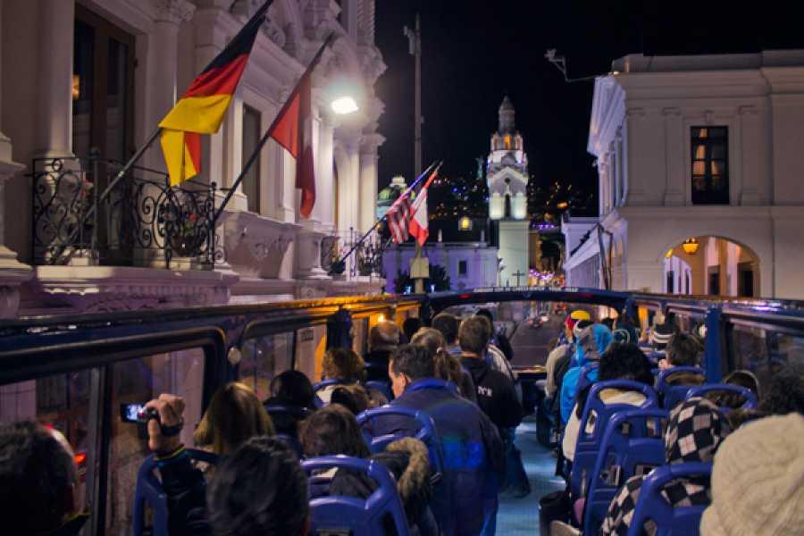 Quito Tour Bus Quito At Night