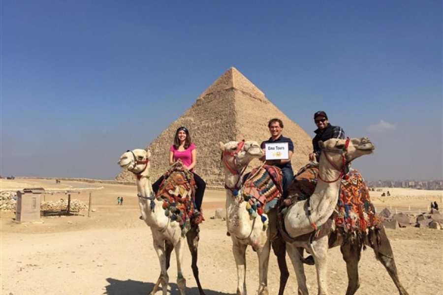 EMO TOURS EGYPT HALBTAG TOUR ZU GIZA PYRAMIDE VON CAMEL