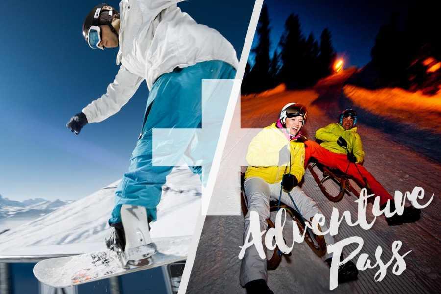 Outdoor Interlaken AG Adventure Pass: 1 Tag Einsteiger Snowboard Package + Nachtschlitteln