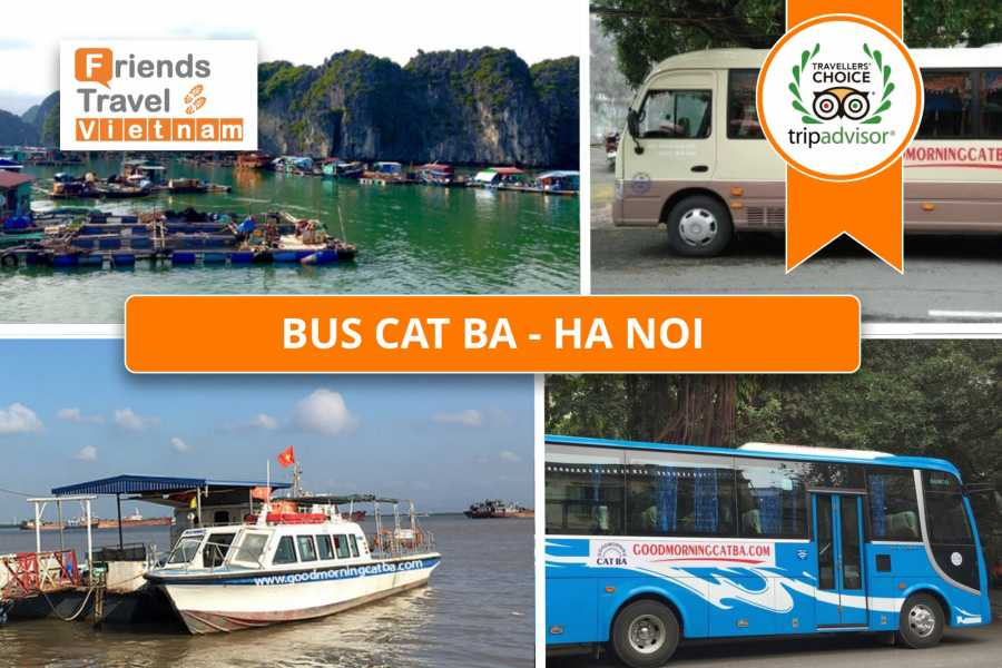 Friends Travel Vietnam Bus Tickets Cat Ba - Hanoi