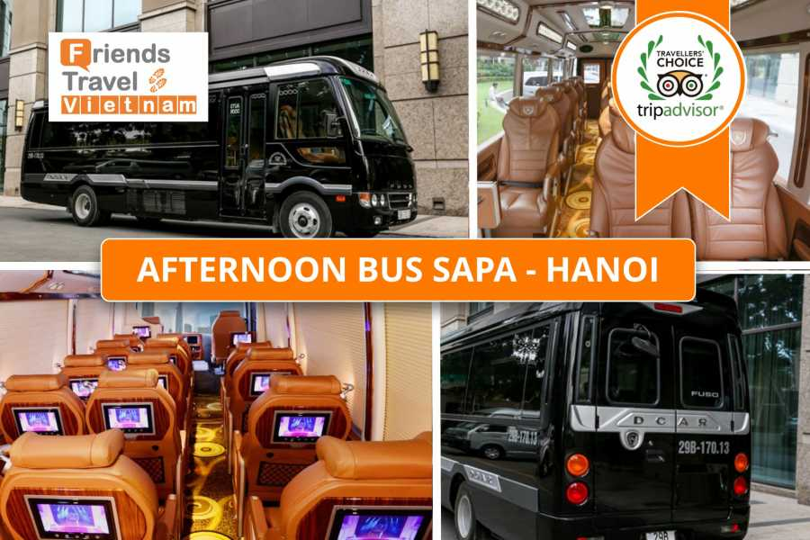 Friends Travel Vietnam Afternoon Bus Sapa - Hanoi (Pumpkin Limousine 15.00PM)