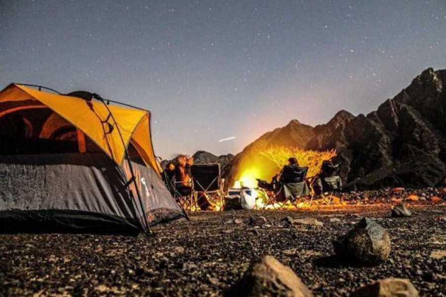 Adventurati Outdoors Camp Night Before Wadi Clean Up Event