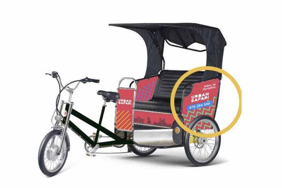 Urban Safari Tours Bici-taxi: Alquiler publicidad laterales