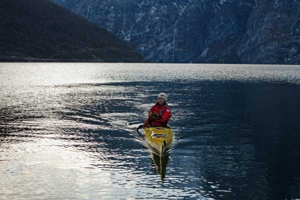 Guided kayak trip in the winter