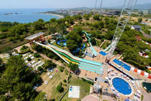 // Aqua Park & Bungee Jumping from Side