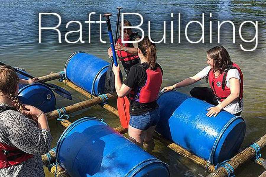 South Cerney Outdoor Group Booking Raft Build