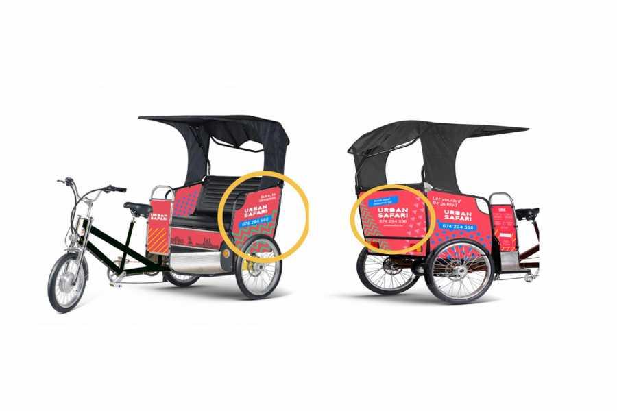 Urban Safari Tours Bici-taxi: Alquiler publicidad vehículo entero