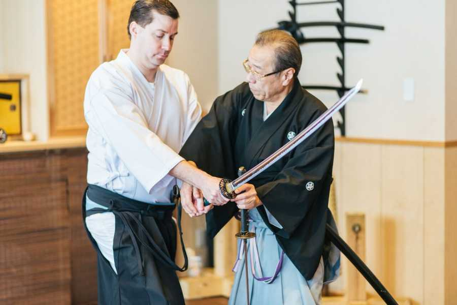 Mina Japan Private Sword Lesson with a Sword Master