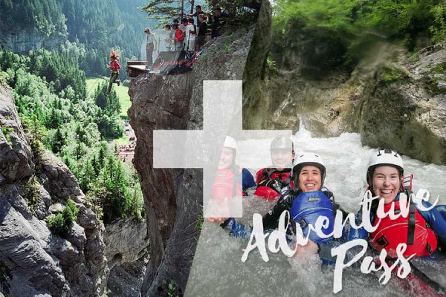 Outdoor Interlaken AG 어드벤처 패스: Canyon Swing + Canyoning Interlaken