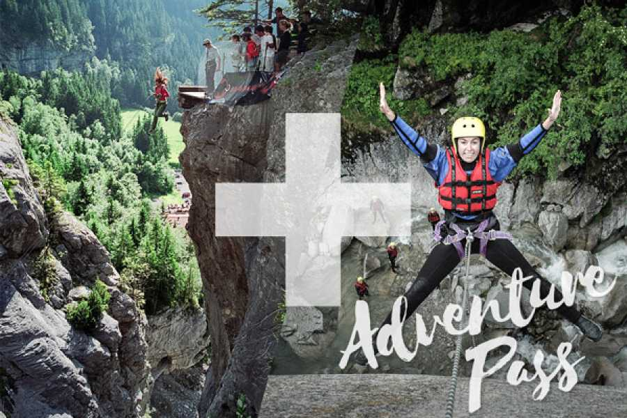 Outdoor Interlaken AG 어드벤처 패스: Canyon Swing + Canyoning Grimsel