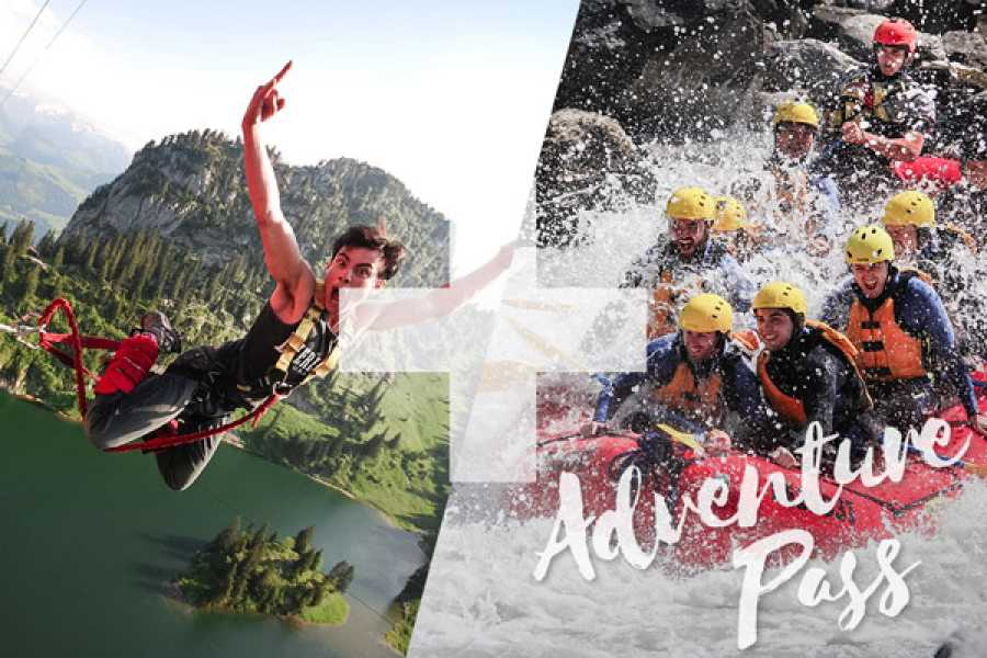 Outdoor Interlaken AG Adventure Pass: Bungy Stockhorn + Rafting Lütschine