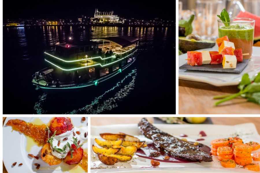 Barca Samba Cena y música en el mar