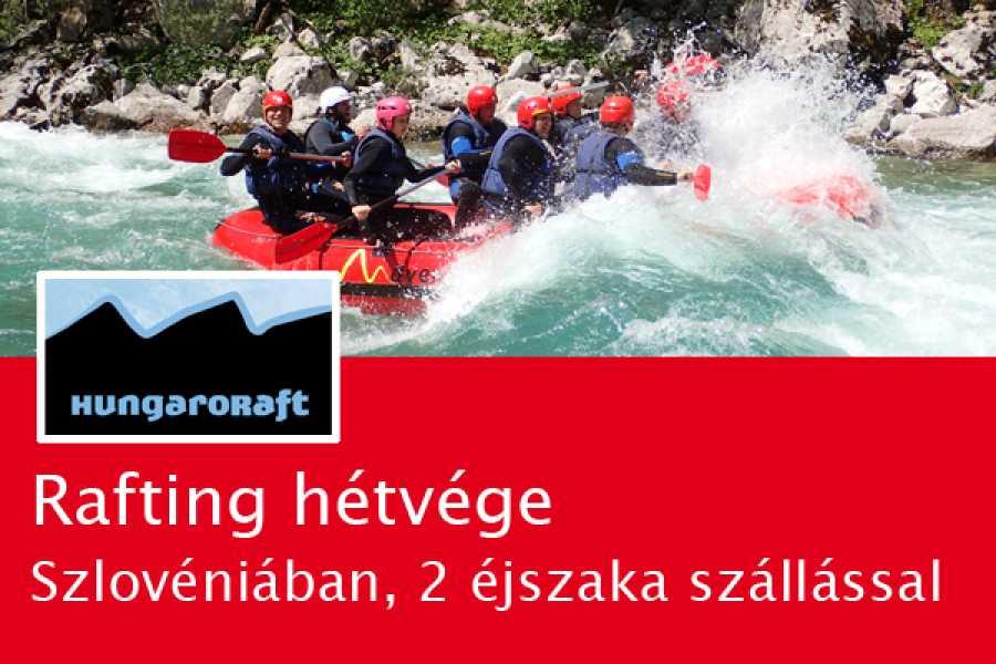 HungaroRaft Kft Rafting hétvége Szlovéniában, 2 éjszaka szállással, grill-vacsora, fotók