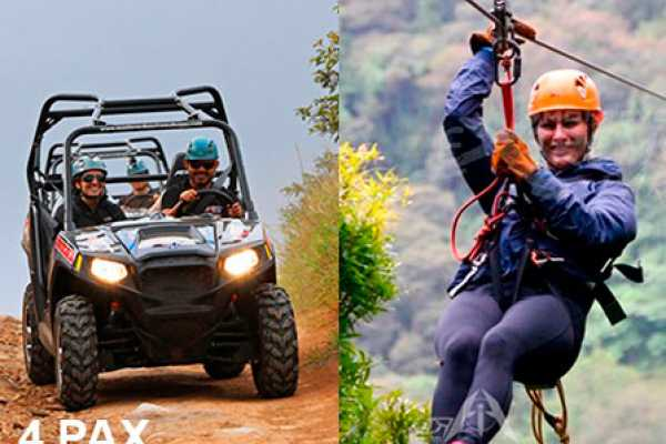 monteverde extremo Canopy & buggy 4 pax