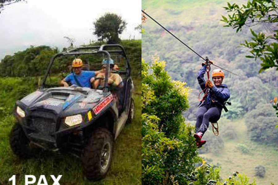 monteverde extremo Canopy & buggy 1 pax