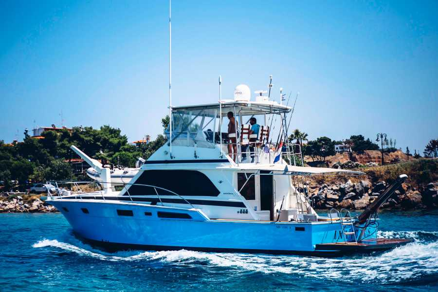 Grekaddict Private Day Cruise from Ormos Panagias to Diaporos and Ammouliani Islands