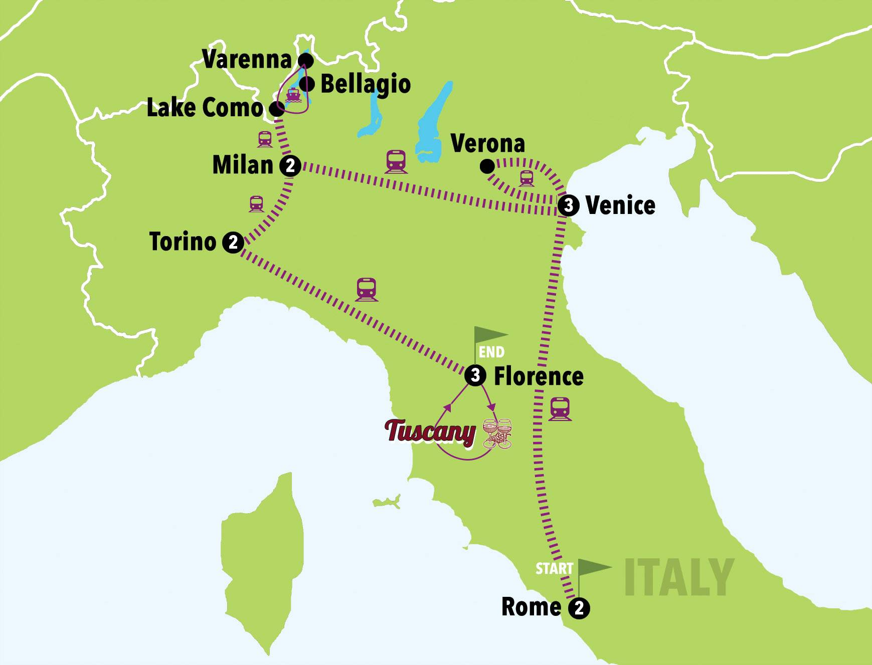 Tuscany Italy Map Of Area.Forever Italy 13days 12nights Italy On A Budget Tours Italy 1