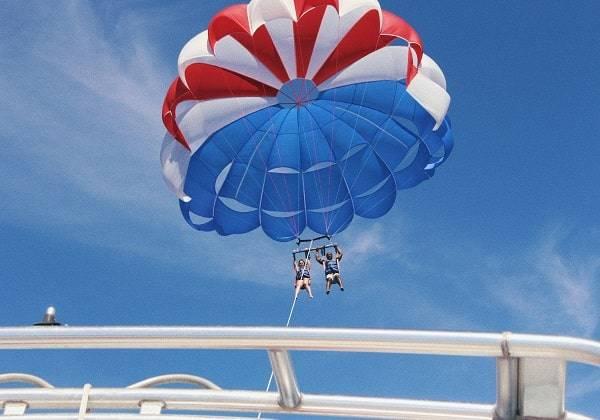 Parachute ascensionnel Ile aux Cerfs