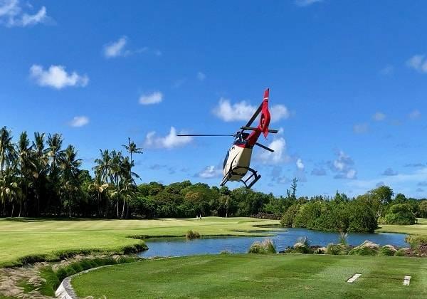 Helikopter Flug zum Goldplatz