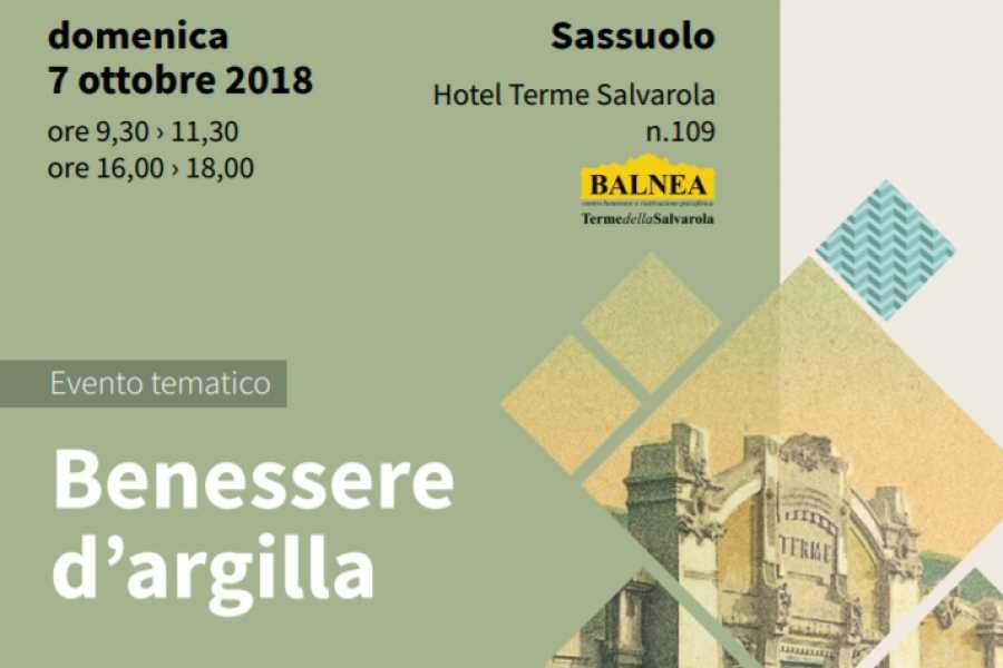 Modenatur 7/10/18 Benessere d'Argilla -Conferenza e visita