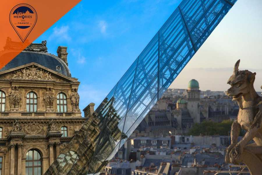 Memories DMC France Iconic Paris - the Louvre and Notre Dame with Towers climb