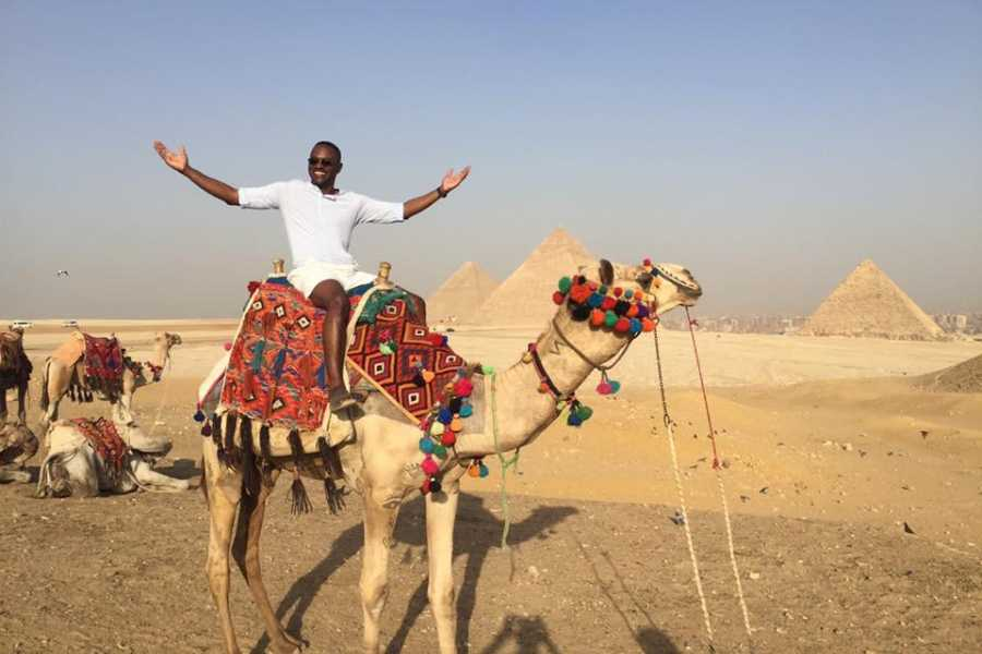 EMO TOURS EGYPT Private HALF DAY TOURS TO GIZA PYRAMIDS AND SPHINX with Camel Ride
