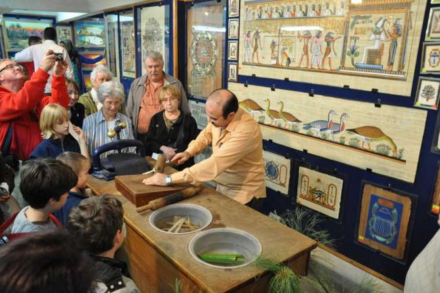 EMO TOURS EGYPT Papyrus Manufacturing Tour and Papyrus Making Demonstration
