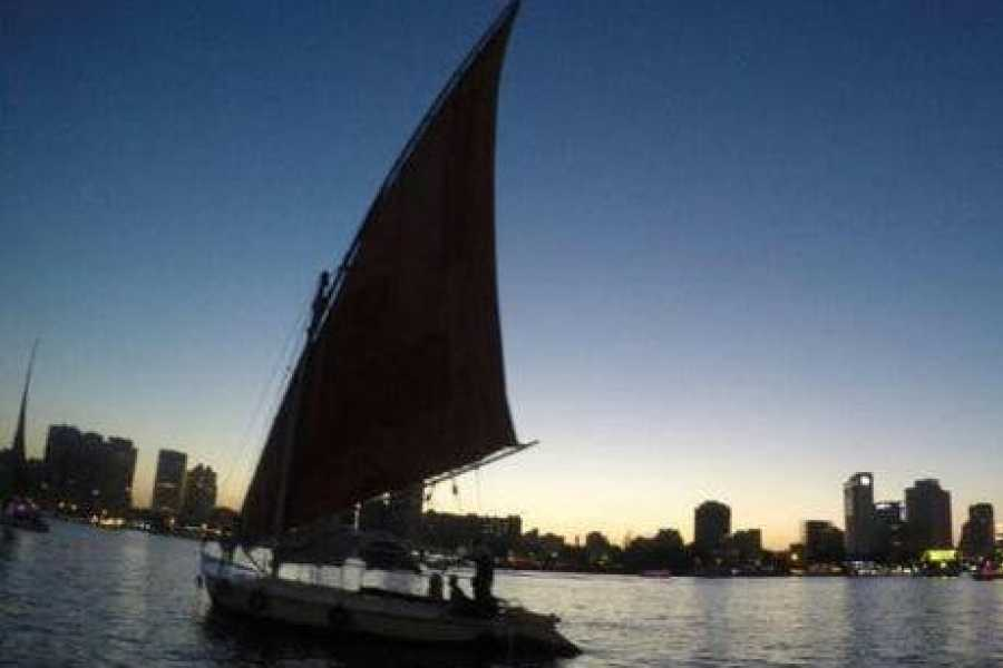 EMO TOURS EGYPT Private Egyptian felucca ride on the Nile at sunset in Cairo