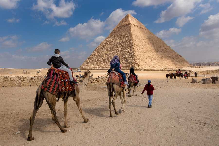 EMO TOURS EGYPT Giza Pyramid Desert Camel Ride Trip During Sunrise or Sunset