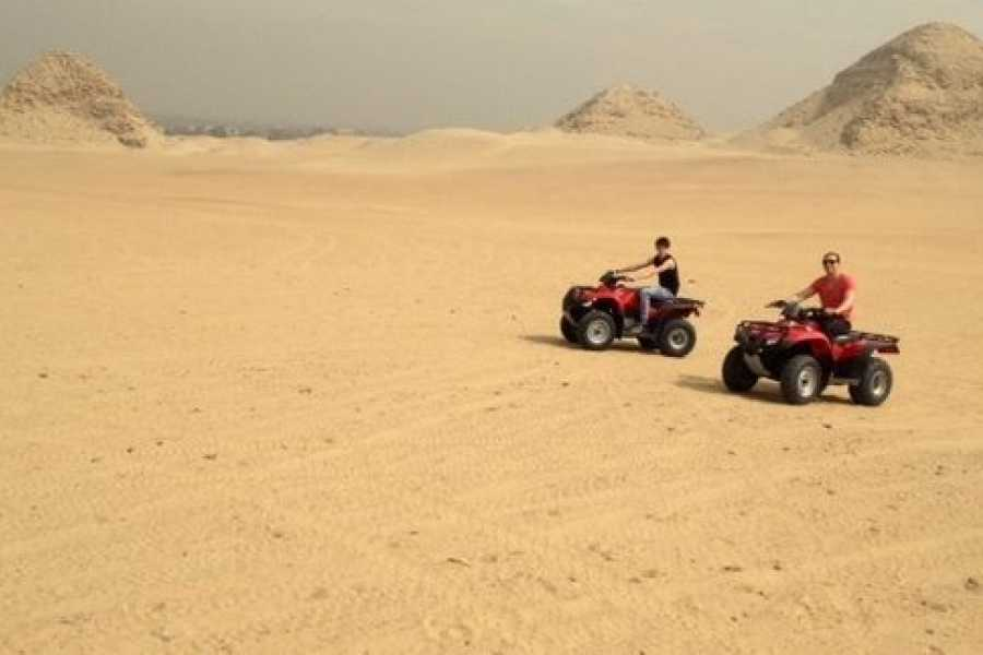 EMO TOURS EGYPT Giza Pyramids Adventure Tours on ATV Quad bike ride in desert