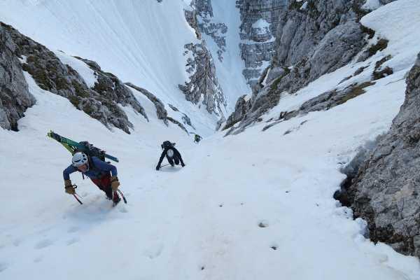 Winter Climb - Slovene Route in Triglav North Face