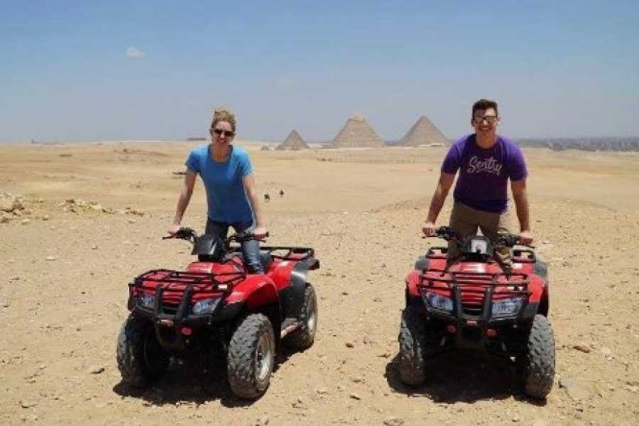 EMO TOURS EGYPT ATV at Giza Pyramids and Camel Ride during sunset