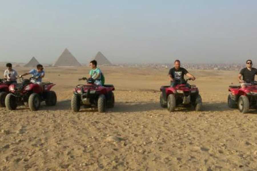 EMO TOURS EGYPT ATV at Giza Pyramids and Camel Ride during surise