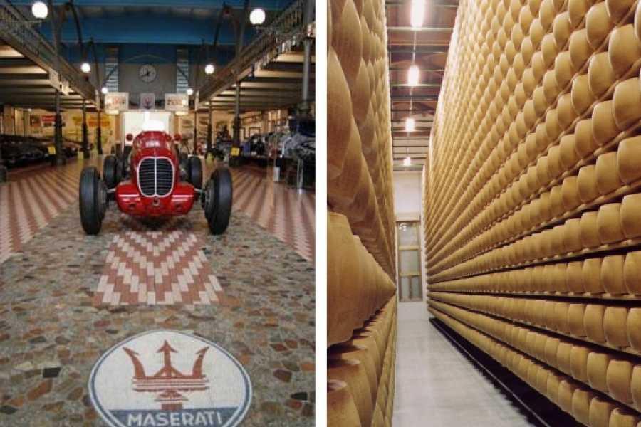 Modenatur Visita guidata caseificio Hombre Parmigiano Reggiano e Collezione d'auto Umberto Panini