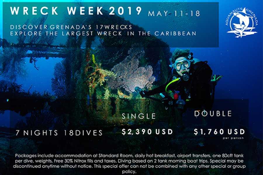 Aquanauts Grenada Wreck Week 2019