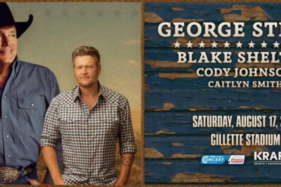 Dream Vacation Tours George Strait, Blake Shelton, Cody Johnson at Gillette Stadium 2019