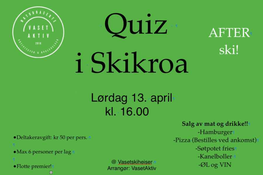 Velkommen til Vaset Quiz i Skikroa