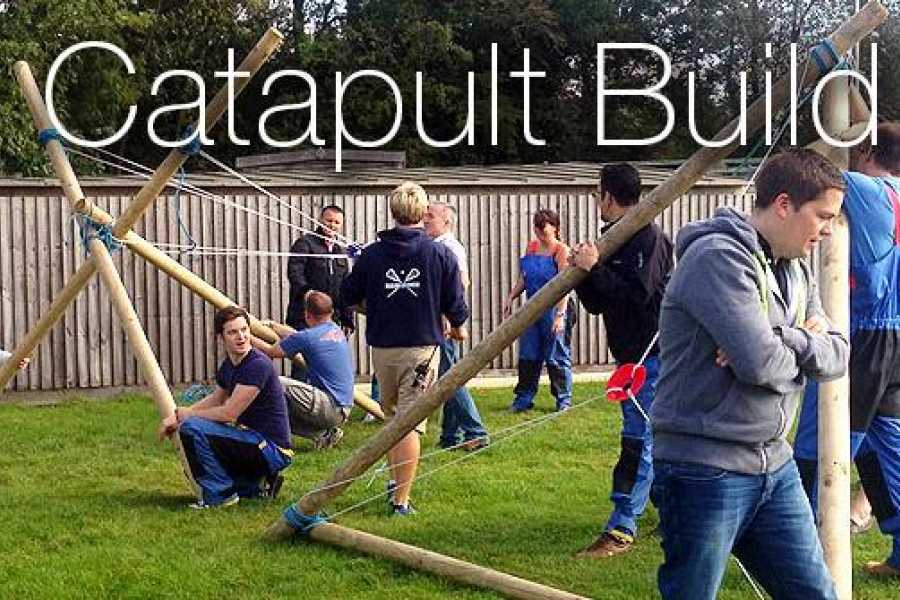 South Cerney Outdoor Corporate Booking - Catapult Build