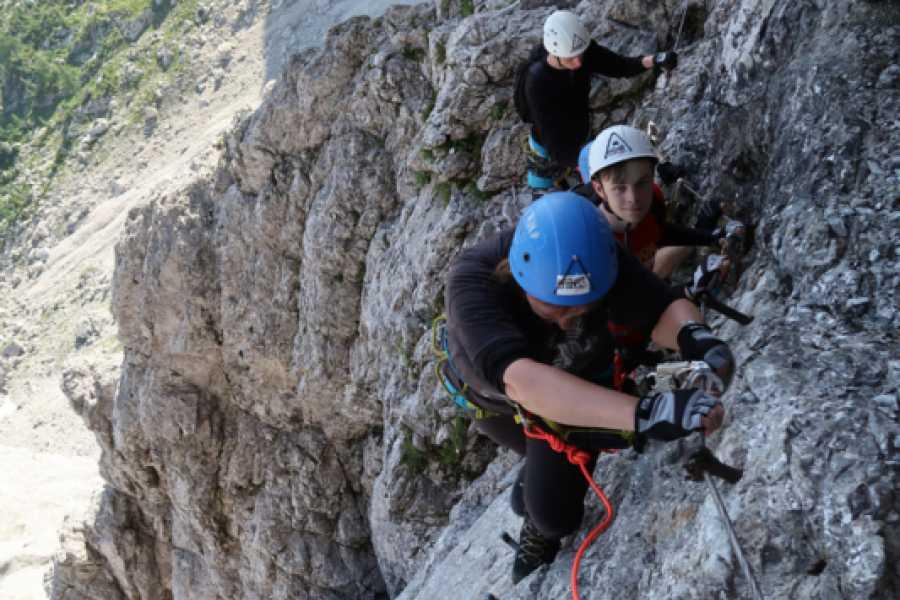 Turistično društvo in Center gorskega vodništva Via Ferrata -Hanzova na Malo Mojstrovko
